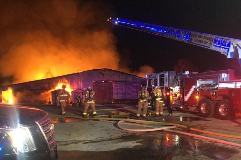 Maffitt Lake Equestrian Center Barn Fire Total Loss
